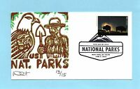 U.S. FDC 5080N  CURTIS CACHET - YELLOWSTONE NATIONAL PARKS ISSUES - 2016