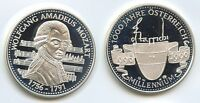 PA105   SILBERMEDAILLE 1996 WOLFGANG AMADEUS MOZART 1756 1791 SILBER STERREICH