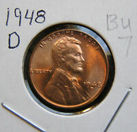 1948 D ABOUT UNCIRCULATED LINCOLN WHEAT CENT