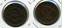 1849 BRAIDED HAIR LARGE CENT FINE 9418A