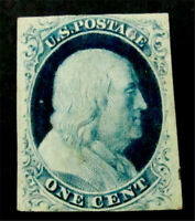 NYSTAMPS US STAMP  9 MINT WITH GUM H $750