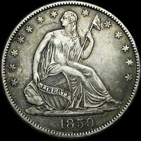 1859 O SEATED LIBERTY HALF DOLLAR      STUNNING TYPE COIN      D339