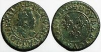 421 LOUIS XIII DOUBLE TOURNOIS 1616 T NANTES