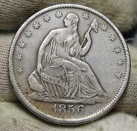 1856 SEATED LIBERTY HALF DOLLAR. 50 CENTS   KEY DATE 938,000 MINTED 5674