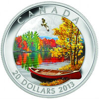 $20 AUTUMN BLISS .9999 1 OZ FINE SILVER COIN CANADA PROOF 2013 SOLD OUT