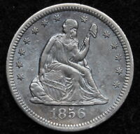 1856 O SEATED LIBERTY QUARTER 25 CENTS KEY DATE 968,000 MINTED NICE 5218