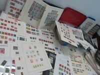NYSTAMPS THOUSANDS MINT USED OLD US STAMP & BLOCK COLLECTION ALBUM & BOX