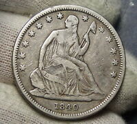1840 SEATED LIBERTY HALF DOLLAR 50 CENTS. NICE COIN  4052