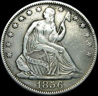 1856 O SEATED LIBERTY HALF DOLLAR       STUNNING TYPE COIN      D336