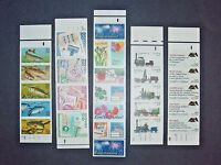 SB1 STAMPS - LOT OF 5 ASSORTED BOOKLET ISSUES; ALL MNH