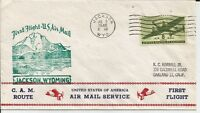 1946 FIRST FLIGHT COVER AM 26S13 FLOWN FROM JACKSON WYOMING