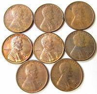 8, 1930 S LINCOLN WHEAT CENT COIN LOT AU-UNC COLLECTION- 1930S PENNIES