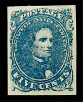NYSTAMPS US CSA CONFEDERATE STAMP  4 MINT WITH GUM H $225