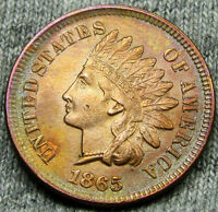 1865 INDIAN HEAD CENT PENNY --- GEM BU DETAILS --- N089
