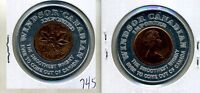 1970 CANADA PENNY WINDSOR CANADIAN WHISKEY ENCASED PENNY