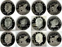 1973   1978 S CLAD PROOF IKE EISENHOWER DOLLAR COLLECTION 6 COINS US MINT $1 LOT