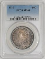 1812 CAPPED BUST HALF 50C O 105A R.2 MS64 PCGS
