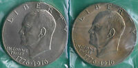 1976 P AND D EISENHOWER DOLLAR COINS BU TYPE II MINT SET CELLOS TWO IKE $1