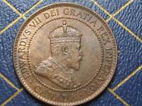 1902 CANADIAN LARGE PENNY KIND EDWARD VII OLD BRONZE COIN LOT BX32