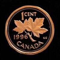 1996 CANADIAN PENNY ONE CENT COIN PROOF 0296