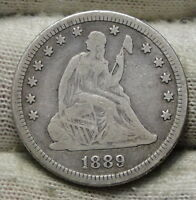 1889 SEATED LIBERTY QUARTER 25 CENTS    KEY DATE ONLY 12,000 MINTED 5776