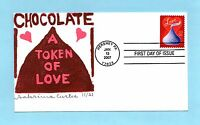 U.S. FDC 4122  SABRINA CURTIS CACHET - THE HERSHEY'S KISS LOVE STAMP