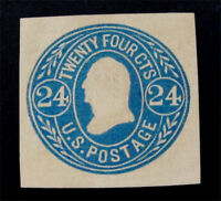 NYSTAMPS US CUT SQUARE STAMP  U71 MINT $90