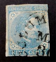 NYSTAMPS US CSA CONFEDERATE STAMP  7 USED $22