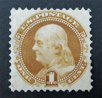 NYSTAMP US STAMP  123 MINT WITH GUM H $550