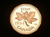 CANADA 1994 PROOF ONE CENT BRONZE 100 / RCM
