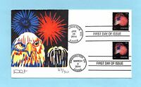 U.S. FDC  47374868  DAVE CURTIS CACHET - FT. MCHENRY FLAG AND FIREWORKS