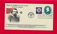 FDC CONFEDERATE GENERAL NATHAN BEDFORD FORREST SULPHUR CREEK TRESTLE MASONIC