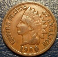 VF 1900 INDIAN HEAD CENT NICE ORIGINAL COLLECTOR GRADE COIN PROBLEM FREE CHOICE