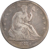1875 CC LIBERTY SEATED HALF DOLLAR CIRCULATED