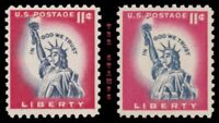 1044A 1044AC STATUE OF LIBERTY 11C ISSUE UNTAGGED TAGGED SET OF 2 MNH   BUY NOW