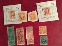 COLLECTION/LOT OF 9 MIXED VINTAGE US BOB REVENUE STAMPS BOB7