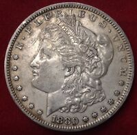 1880 $1 MORGAN SILVER DOLLAR