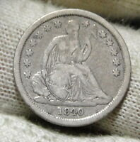 1840 SEATED LIBERTY DIME 10C    NICE COIN  5941