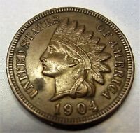 1904 INDIAN HEAD PENNY US 1C READABLE LIBERTY