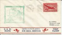 1947 FIRST FLIGHT COVER AM 74W5 FLOWN FROM ROCK SPRINGS WYOMING
