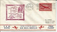 1947 FIRST FLIGHT COVER AM 74S2 FLOWN FROM CHEYENNE WYOMING