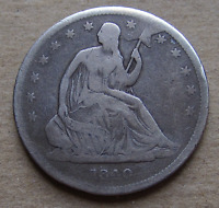 1840 SEATED HALF DOLLAR WB 2 R5  LATE DIE STATE OBVERSE