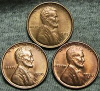 1909 1930 1930-S LINCOLN WHEAT CENTS --- STUNNING DETAILS LOT --- N517