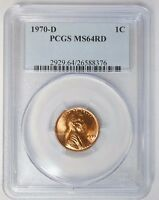 1970 D 1C LINCOLN CENT PENNY PCGS MS64RD