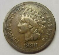 1880 INDIAN HEAD PENNY US 1C