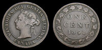 CANADA 1891 LARGE ONE 1 CENT QUEEN VICTORIA LDLL F 15