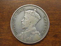 1934 NEW ZEALAND HALF CROWN SILVER