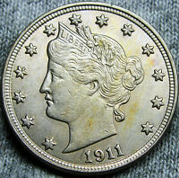 1911 LIBERTY V NICKEL U.S. COIN --- STUNNING --- N027