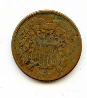 1866 TWO CENT FINE  HUCKY