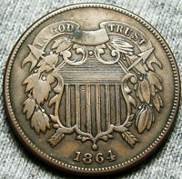 1864 TWO CENT PIECE 2CP ---  TYPE COIN --- W866